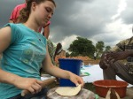 Gabrielle rolling handmade Chapati