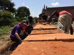 Building the orphanage wall