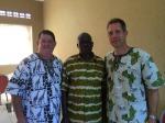 Todd, David and Pastor Francis